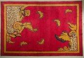 Tappeto in lana, cotone e seta
