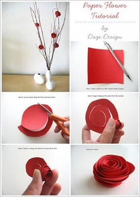 Dozi Design Paper Roses Flowers