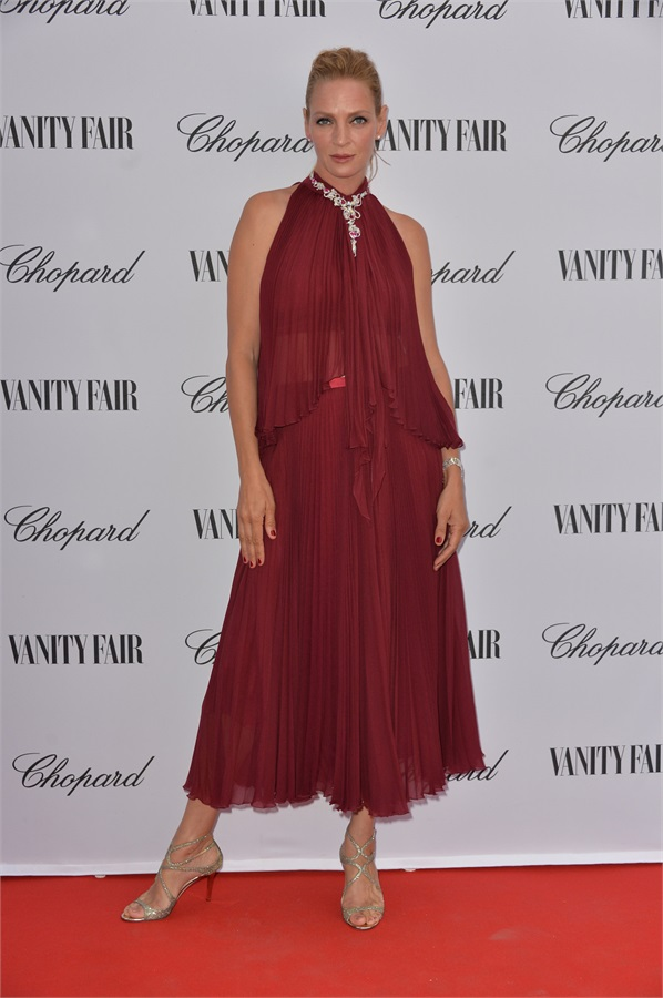 uma thurman in jenny packham - party vanity-chopard
